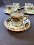 Crown Ducal Ware Demitasse Set Of 6 - A1476 Pattern - Made In England 1928 C631