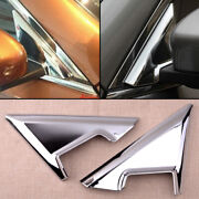 Chrome Front Window A-pillar Mirror Bracket Cover Fit For Nissan X-trai 2014-20