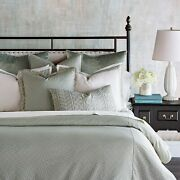 Eastern Accents Jessup Luxury Pastel Traditional King 8 Piece Bed Set Mint Gree