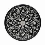 3and039x3and039 Black Marble Bedroom Dining Coffee Side Nlay Table Top Pietra Dura Style