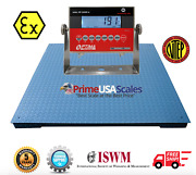 Op-900b-ex Ntep 4andprime X 4andprime Certified Explosion Proof Floor Scale 10000 Lb Capacity