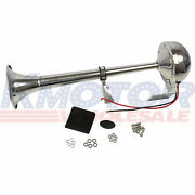Air Horn Single Trumpet Electric Horn 12v 390mm For Marine Truck Train Car Boat