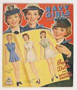 Navy Girls And Marines Paper Dolls And Official Uniforms 0 Vg 4.0 1943