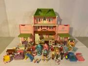 Loving Family Grand Mansion Dollhouse Loaded Twins Grandpa Golf And Furniture Lot