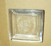 A.h. Heisey And Co. Orchid Crystal 3 Square Individual Butter Pat Or Ashtray