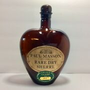 Paul Masson Rare Dry Sherry Brown Heart Bottle - Large - Cuvée 001