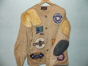 1958 Vintage Hunting Jacket With Several Patches Used Very Good Menand039s Size 44