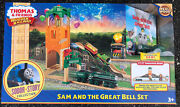 Thomas And Friends Wooden Railway Sam And The Great Bell Set Sodor Story - New