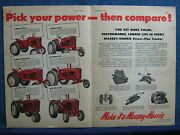 1952 Massey-harris Dbl-pg Ad - 6 Models 1 And 2 Plow Pony, Mustang, 33, 44, And 55