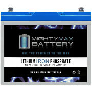 Mighty Max 12v 75ah Lithium Battery Replaces Permobil C500 Aeron Lawn Mower