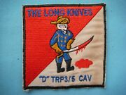 Vietnam War Patch, Us D Troop 3rd Sq 5th Cavalry Rgt The Long Knives