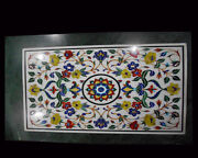 Size 3and039x2and039 Marble Corner Coffee Table Top Inlay Mosaic Floral Art Home Decor