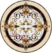 3and039x3and039 Pietra Dura Dining Side Lunch Table Top Marble Inlay Decorative Malachite