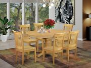 7pc Avon Oval Kitchen Dining Set Table + 6 Portland Wood Seat Chairs Light Wood