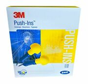 3m Push-in Hearing Protection Earplugs Nrr 28 Version With Cord 400 Pairs