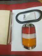 Mercedes W120 180 Ponton Early Red Clear Amber Tail Light Lens Complete Set New