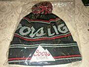 Coors Light Beanie Hat Knit Winter Cap Beer Molson Coors Canada Lot Of 2