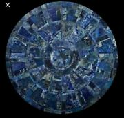 3and039 Blue Lapis Dining Coffee Marble Table Top Inlay Fine Malachite Room
