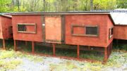 9' Large Wooden Chicken Coop With Nest Box. Heavy-duty Metal Roof. 110x48x48