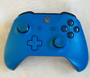 Microsoft Xbox One Wireless Controller -blue Used -works Great Free Shipping
