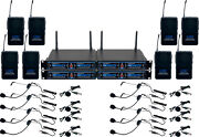 Vocopro Udh-play-8 Eight Channel Wireless Headset/lapel Mic System