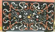 5and039x2.5and039 Black Marble Table Top Coffee Center Center Inlay Lapis Home Decor Z110