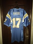 Nwt 100 Authentic Mens Sz 52 Reebok Philip Rivers Chargers Nfl Football Jersey