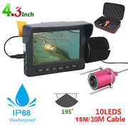1200tvl Hd 4.3in Underwater Fishing Camera Fish Finder Video 10x Led 15/30m Cam