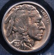 1937 D Buffalo Nickel Old Holdered Pcgs Ms 65 Nice Luster And Pale Clear Gold