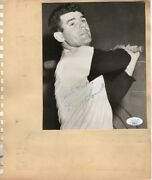 Danny O'connell Bob Thorpe Signed Autographed Scrapbook Page Yankees Jsa Ii59915