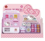 Hello Kitty Vending Machine Toy Role Play 2 Coins 3 Drinks 1 Figure
