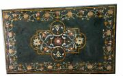 48x30and039and039 Green Center Side Coffee Marble Table Top Inlay Mosaic Malachite Decor