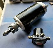 Premium Starter And Solenoid For Johnson Marine Outboard 1969-72 115hp W/big Gear