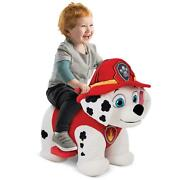 6v Plush Ride Ons For Toddlers Boys Girls Comfortable Soft Paw Patrol Marshall