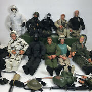 Vintage 1990's Gi Joe Collectible Set 10 Action Figures Case And 88 Accesories
