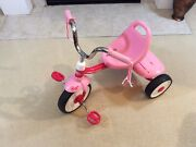 Radio Flyer Pink Kids Folding Bike Sports Pedal Tricycle . Excellent Condition