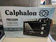 New Calphalon Precision Control Counter Top Toaster Oven Black