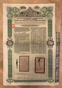 China Government 1911 Tientsin Pukow Railway Andpound100 Bond Loan +coupons Uncancelled