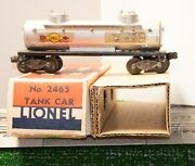 Lionel 2465 Sunoco Tank Car With Flying Shoes And Ob From 1946