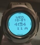 Nixon Run The Hills The Delta Pu Compass Watch Stainless Steel Grey Nylon Band