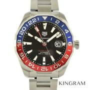 Tag Heuer Aqua Racer Gmt Way201f Finished Mechanical Watch From Japan