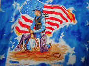 Wrangler Western Long Sleeve Shirt L Cowboy Calm Before The Storm By R. Langford