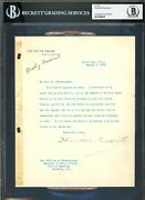 Theodore Roosevelt Signed 7x8.75 1908 Letter On White House Stationary Bas Slab