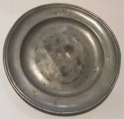 2 3/4 Pound Antique Pewter Charger Shallow Bowl Plate 12 Signed Cm Press Mark