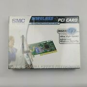 Smc Networks 140 Mbps Wireless Pci Card Home Networking Small Office New In Box