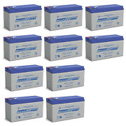 Power-sonic 12v 9ah Replacement Battery For Panasonic Lc-r12 - 10 Pack