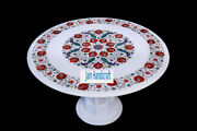 30 White Marble Table Top Coffee Dining Inlay Lapis Mosaic Home With Stand H12
