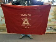 Vintage Wool Collage Football Blanket Pennant Delta Chi 63 Fraternity Penn State