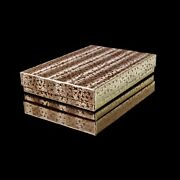 100 Gold Cotton Filled Jewelry Gift Boxesandnbsp5 3/8 X 3 7/8 X 1
