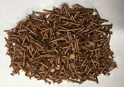 5 Lbs Copper Ring Shank Roofing Nails 1.5 10 Gauge 750+ Pieces